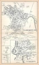 Claremont, New Hampshire State Atlas 1892 Uncolored